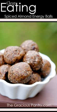 Clean Eating Spiced Almond Energy Balls.  Enjoy this recipe and For great motivation, health and fitness tips, check us out at: www.betterbodyfitnessbootcamps.com Follow us on Facebook at: www.facebook.com/betterbodyfitnessbootcamps