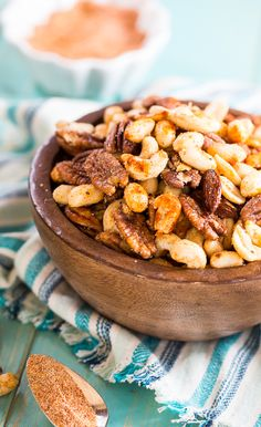 Cajun Nuts - Maked a great party snack or holiday appetizer. Flavored with plenty of spices, some sugar, and a little bacon grease!