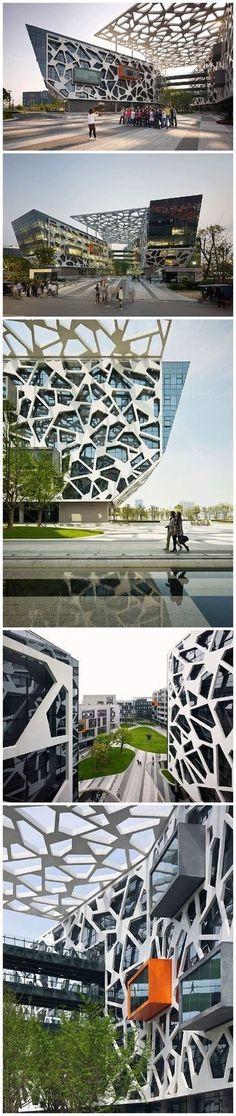 Edificio de la fachada del edificio DesignFacade Arquitectura Oficina Edificio Arquitectura de ladrillo ...