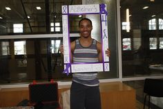 LU student takes photo in support of Hope For an Alzheimer's Cure, hosted by Alpha Kappa Alpha Sorority Inc.