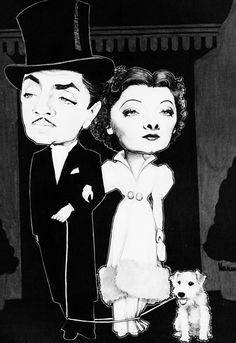 William Powell and Myrna Loy with Astrik...From The Thin Man Series