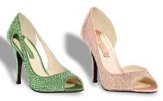 Zapatos de novia con cristales de swarovski de Serena Whitehaven