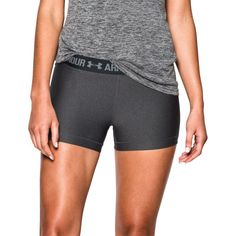 Under Armour Women's HeatGear Armour Compression Shorts, Size: Large, Carbon Heather