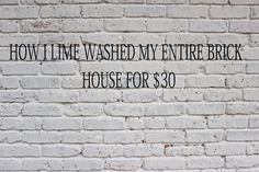 When we first bought our ranch style house a few years ago, I was not in love with the brick exterior any more than the interior,. Home Exterior Makeover, Exterior Remodel, Ranch Exterior, Cottage Exterior, Exterior Paint Colors, Exterior House Colors, Diy Exterior Brick Painting, Whitewashing Exterior Brick, Whitewash Brick House
