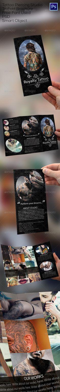 Tattoo Shop Tri Fold Brochure