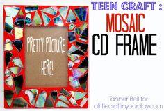 Mosaic CD Frame DIY