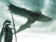 avion bird bow (weapon) colossus epic game console giant gradient gradient background male focus monochrome outdoors playstation 2 shadow of the colossus short hair sky solo surcoat wander weapon white background - Image View - Ghost Pokemon, Vampire Masquerade, Last Shadow, The Evil Within, Anime Fantasy, Fantasy Art, Creature Design, Fantasy Creatures, Legend Of Zelda