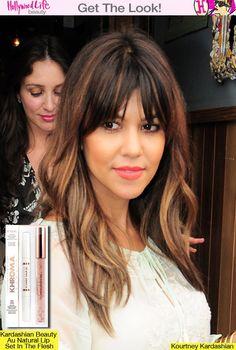 Kourtney Kardashian's Wavy Hair — Get Her Peach Lips With Kardashian Beauty - Hollywood Life