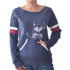 Ninja Owl Sport Stripe Maniac Off the Shoulder Sweatshirt - $46.00 #9thandelm
