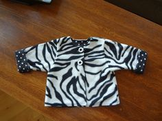 Infant girl fully lined fleece jacket 6-12 mos by thecottonbunny