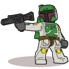 Lego Star Wars Cartoon Guys... Love this artist's renderings and drawings of Lego Minifigs.