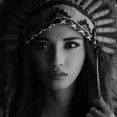 Indian headdress beauty. #free #wild #indie... - I wonder.. a lot...