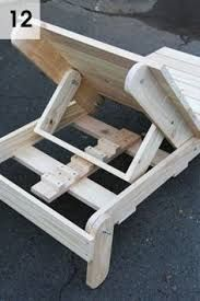 Resultado de imagen para Planos para hacer reposeras de madera con lona y sin lona.