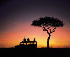 sundowners at the african sunset