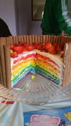 Regnbuekage til Malthes 2-års fødselsdag ☺