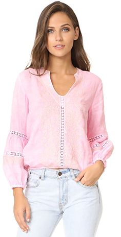 Temptation Positano Embroidered Blouse | SHOPBOP