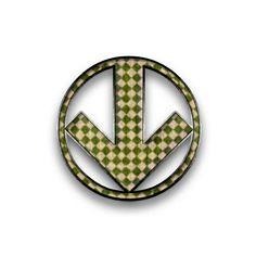 Circled Down Arrow Icon #003919 » Icons Etc