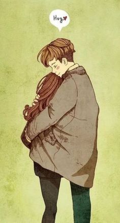 322 best couple illustration images in 2019 Cute Couple Drawings, Cute Couple Art, Love Drawings, Sweet Drawings, Love Cartoon Couple, Anime Love Couple, Cute Anime Couples, Anime Couples Hugging, Hug Illustration