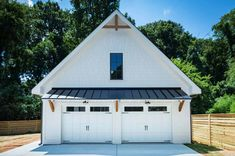 Detached garage Carriage Home Design Beautiful and detailed, from the metal roof. - Detached garage Carriage Home Design Beautiful and detailed, from the metal roof overhang, to the c - Garage House, Garage Gym, Plan Garage, Garage Roof, Garage Ideas, Pole Barn Garage, Garage With Loft, Carport Ideas, Steel Garage