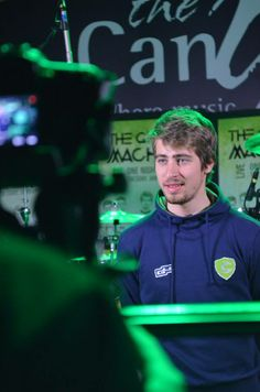 Peter Sagan under the lights before #thegreenmachine takes the stage.