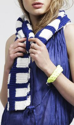 Check Mate Scarf | Knit your own or made by the gang