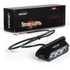 Amazon.com: Carchet 3W High Power 3 LED Waterproof Car Truck Emergency Strobe Flash Light Amber: Home Improvement