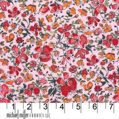 Garden Wall Pink Wee Spring fabric by Laura Gunn for Michael Miller Fabrics