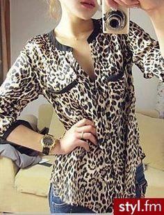 ( Leopard print long sleeve shirt size M/L Long Sleeve Tops, Long Sleeve Shirts, Casual Outfits, Fashion Outfits, Women's Casual, Leopard Blouse, Smart Outfit, Animal Print Fashion, Shirt Blouses