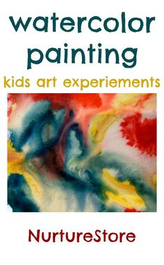 We love to offer the children new art techniques to try, because it invites creativity, challenges them to take a risk and try something new, and helps them develop connections with what they've already learned. Ever tried this wet on wet watercolor technique?
