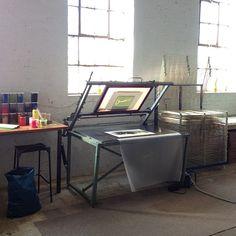 Screenprinting table at Hello Print Studio | Flickr - Photo Sharing!