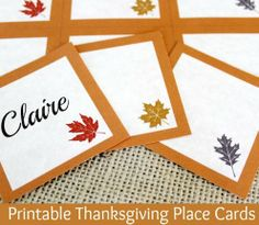 Printable Thanksgiving Place Cards
