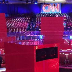 An awesome Virtual Reality pic! If you have a brand-new virtual reality headset you can watch a 360-degree view of Tuesday night's Democratic debate. @CNN is producing a virtual reality version of the debate telecast marking the first time that a news event is live-streamed to the Samsung GearVR headset. For more visit the link in our profile. #demdebate #debate #cnndebate #virtualreality #vr #samsung #samsunggearVR #CNNMoney by cnnmoney check us out: http://bit.ly/1KyLetq