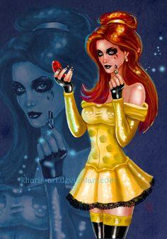 Dark Seductive Belle by kharis-art.deviantart.com on @deviantART beauty and the beast makeup goth