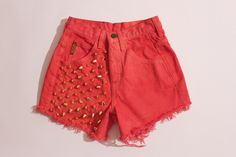 Gold Studded High Waisted Armani Shorts XS by theSTEELage on Etsy