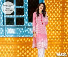 Pink Ready To Wear Eid Attire By Warda 2016