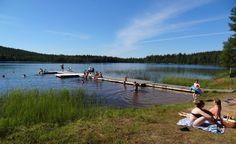 Valkeajärven+uimaranta+Pellon+Ritavaaralla+Länsi-Lapissa