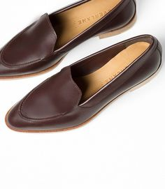 Everlane The Modern Loafers in Burgundy