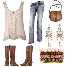 Country cow girl + a bit of bling = Glam Living where I do will swap sandals for the boots
