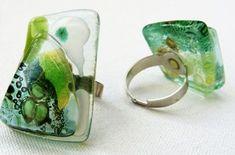 anillos sortijas joyas en Vitrofusion , Bijouterie , Joyeria , Bisuteria , Pintado a Mano
