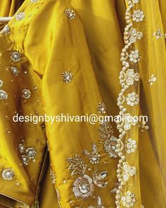 Items similar to Yellow mustard zardozi Pearl hand work lehenga set Hindu wedding lehenga on Etsy Red Wedding Lehenga, Red Wedding Dresses, Wedding Outfits, Indian Designer Outfits, Indian Outfits, Indian Attire, Indian Clothes, Indian Wear, Cutwork Saree