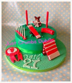 Homemade Dog Agility Birthday Cake Birthday Stuff Pinterest