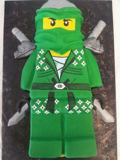 Preston's Green Ninjago cake purchased at Couture Cakes Greenville.