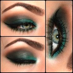 Colorful smokey green eyes | AmazingMakeups.com