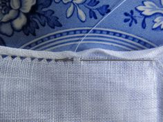 How to sew an antique pulled thread and rolled hem ~ baroque embellishments blog
