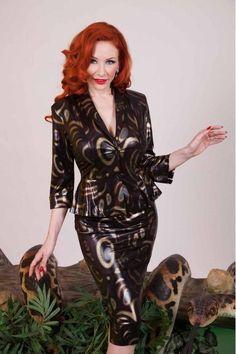 NEW! Tatyana Cats Eye Wiggle/Pencil Dress AND Jacket Size Small  Bodycon/Stretch #Tatyana #WigglePencil #Cocktail #sale
