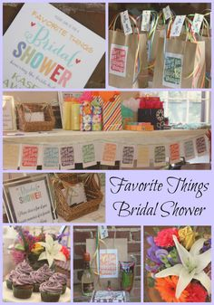 Favorite Things Bridal Shower - each guest brings 3 of their favorite things (one for the bride and 2 to exchange with guests).  Serve all the bride's favorite foods and drinks.  Favors are some of the bride's favorite things.