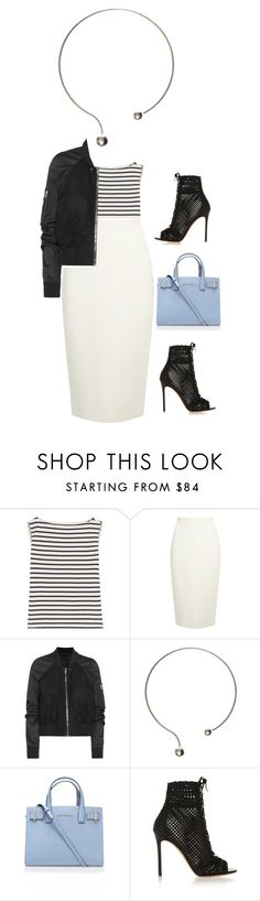 """""""Untitled #2158"""" by misnik ❤ liked on Polyvore featuring Yves Saint Laurent, Donna Karan, Rick Owens, Kurt Geiger, Gianvito Rossi, women's clothing, women, female, woman and misses"""