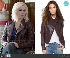 Liv's purple leather jacket on iZombie.  Outfit Details: http://wornontv.net/52702/ #iZombie