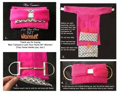 Horse lovers - don't accidentally teach your horse to resist bridling! Warm your bit first with Miss Tamison's Love Your Horse Bit Warmer! Easy to use and it works. My horse practically reaches for the bit now! To purchase, visit www.TRoseDesignStudio.com/Miss Tamison's Products