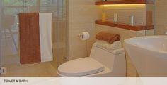 The toilet bath of Madison Park West Model Unit
